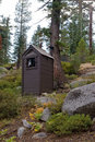 Toilet in scenic forest Stock Images