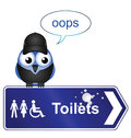 Toilet sign Royalty Free Stock Photography