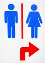Toilet sign restroom man and women Stock Photography