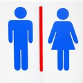 Toilet sign restroom man and women Stock Photos