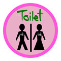 Toilet symbol Male and Female, toilet sign, toilet icon