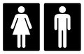 Toilet symbols simple Stock Photography