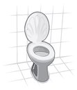 Toilet toilet bowl vector illustration of Royalty Free Stock Image