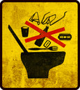 Toilet warning sign Stock Image
