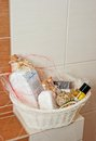 Toiletries Basket Royalty Free Stock Photo