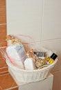 Toiletries Basket Royalty Free Stock Photo