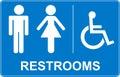 Toilette sign Royalty Free Stock Photo