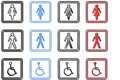 Toilette Signs and Symbols (large) Royalty Free Stock Images