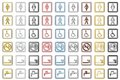 Toilette Signs and Symbols (small) Royalty Free Stock Photo