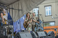 Toini the tomcats plays dance music under national hog rally halden norway to june photos are shot at halden square where Stock Images