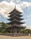 Toji Pagoda in Kyoto, Japan. Royalty Free Stock Image
