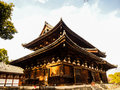 Toji temple with blue sky, Kyoto, Japan Royalty Free Stock Photo
