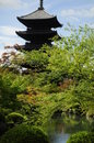 Toji temple in Kyoto Royalty Free Stock Images