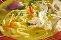 Tokmach chicken soup tartarian traditional with noodles oriental dish Stock Photography