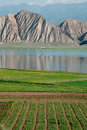 Toktogul highland mountain lake in kyrgyzstan jalal abad province Stock Photography