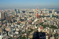 Tokyo from above Stock Photography