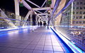 Tokyo City illuminated bridge Royalty Free Stock Photography
