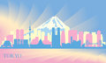 Tokyo city skyline vector silhouette illustration Royalty Free Stock Images