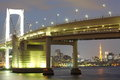 Tokyo city view rainbow bridge this is in odaiba are japan Royalty Free Stock Photography