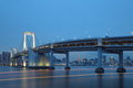 Tokyo city view rainbow bridge this is in odaiba are japan Stock Image