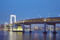 Tokyo city view rainbow bridge this is in odaiba are japan Royalty Free Stock Images