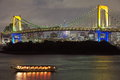 Tokyo city view rainbow bridge this is in odaiba are japan Stock Photography