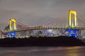 Tokyo city view rainbow bridge this is in odaiba are japan Stock Photo