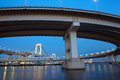 Tokyo city view rainbow bridge this is in odaiba are japan Royalty Free Stock Photos