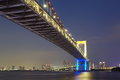 Tokyo city view rainbow bridge this is in odaiba are japan Stock Photos