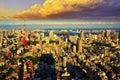 Tokyo skyline panorama, Japan Royalty Free Stock Photo