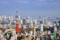 Tokyo daytime skyline tower in japan Royalty Free Stock Photos