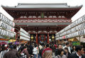 TOKYO - DEC 7 : Crowd at Sensoji Royalty Free Stock Image