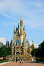 Tokyo disneyland cinderella castle main building its purpose is to set the historical knowledge fairy tales natural scenery and Stock Photography