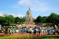 Tokyo disneyland cinderella castle main building its purpose is to set the historical knowledge fairy tales natural scenery and Stock Image