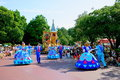 Tokyo disneyland dream joyous parade of all kinds of fairy tales and cartoon characters it maintains the authentic american style Royalty Free Stock Photo