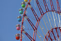 Tokyo ferris wheel close up of the colorful in Stock Images