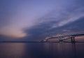 Tokio brána most na súmrak