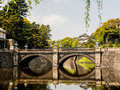Tokyo imperial palace arch bridge at japan Stock Photos