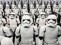 TOKYO, JAPAN, Akihabara, 10 - JULY, 2017: Exposure models star wars figures stormtroopers.