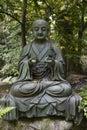 Tokyo, Japan - Buddha statue in the garden of the Nezu museum Royalty Free Stock Photo