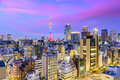 Tokyo, Japan Cityscape Royalty Free Stock Photo