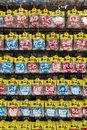 Tokyo - Japan, June 19, 2017:  Shop with a variety of buttons wi Royalty Free Stock Photo