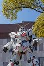 Face of Gunman robot in Odaiba