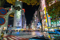 Tokyo, Japan, Nov 17, 2016: Shibuya Crossing Of City street with Royalty Free Stock Photo