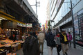 Tokyo japan november ameyoko market in ueno district at once an entertainment for us Royalty Free Stock Photos