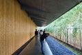 Tokyo, Japan - November 24, 2013: People visit Nezu Museum in Tokyo Royalty Free Stock Photo