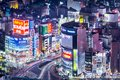 Tokyo japan shinjuku nightlife district viewed from above january in the district is a is a major commercial and administrative Stock Photography