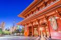 Tokyo Japan Temple Royalty Free Stock Photo