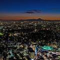 Tokyo and the mount Fuji at night Royalty Free Stock Photo