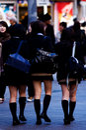 Tokyo-Schule-Mädchen Lizenzfreie Stockfotos